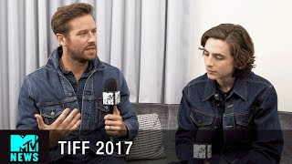 Timothée Chalamet & Armie Hammer on the Sex Scene In