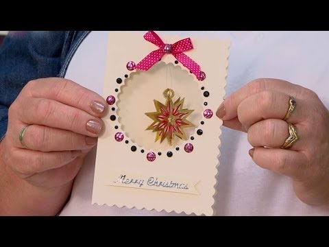 Make a Christmas Card with a Die-cut Aperture | docrafts Creativity TV