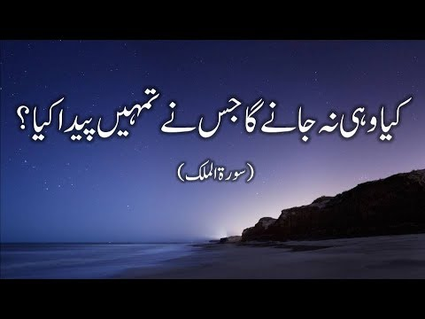 Very Beautiful Recitation of Quran Surah Al Mulk with Urdu Translation