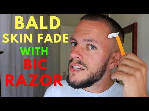 HOW TO DO A BALD SKIN FADE WITH DISPOSABLE RAZOR