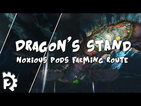 Guild Wars 2 - Dragon's Stand - Noxious Pods Farming Route / 1080p 50fps