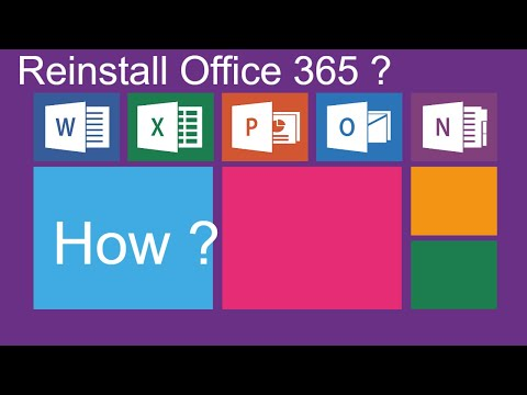 Reinstall Microsoft Office 365 after uninstall or accidentally deleted