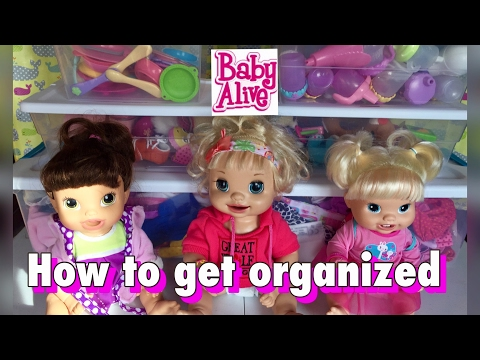 How to organize your Baby Alive and Baby Doll accessories
