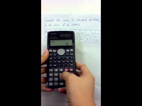 Casio calculator - standard deviation and mean of data