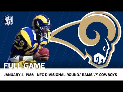 Dickerson's 248-Yard Playoff Record! | Rams vs. Cowboys 1985 Divisional Round | NFL Full Game