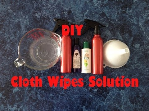 DIY Cloth Wipes Solution; Aloe Vera and Witch Hazel, All Natural Chemical Free