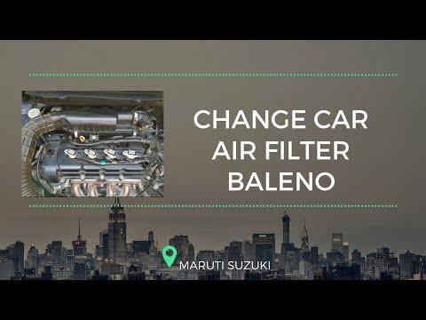 Car Air Filter Cleaning | Maruti Suzuki Baleno P | Boost Car Performance
