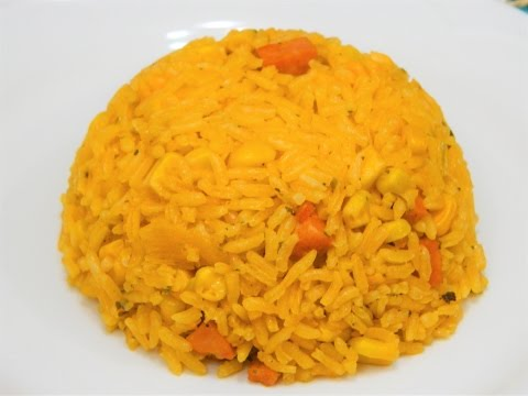 How to make Yellow(Spanish) Rice with Corn!
