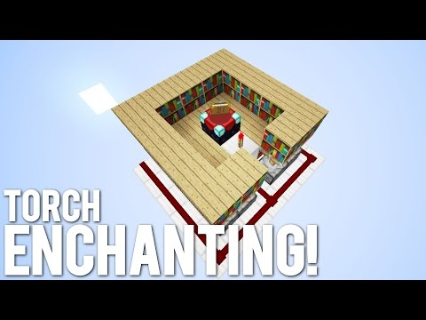 Minecraft: Torch Activated Enchanting System!