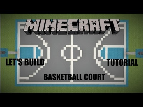 Let's Build a Basketball Court! - Minecraft Tutorial