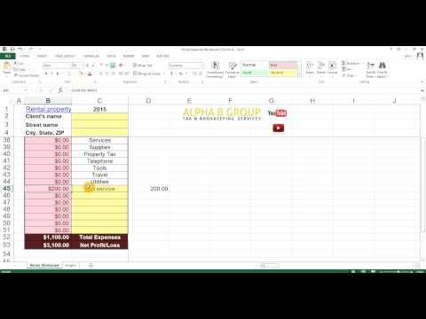 Excel tutorial video for rentals - Alpha B