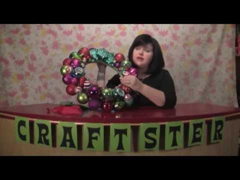 How to Make a Sparkling Ornament Wreath