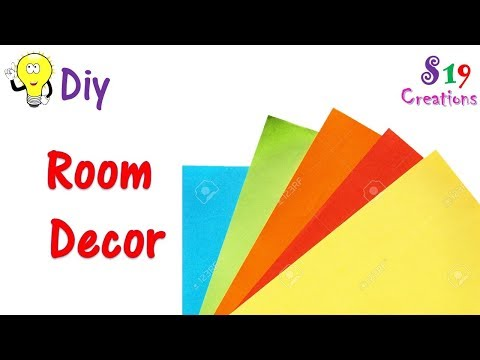 paper craft ideas for room decoration | wall hanging  | easy & inexpensive ideas | diy room decor