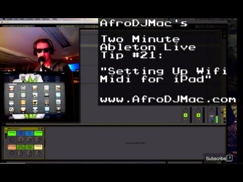 IPAD MIDI Control over Wifi with Animoog Windows 7 and Cubase