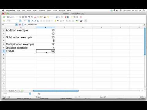 How to use functions in a spreadsheet
