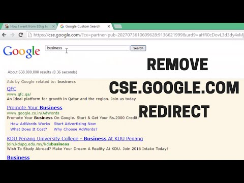 How to Remove cse.google.com Google Custom Search & Other Proxy Redirects
