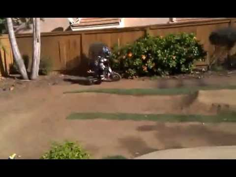 OSET 12.5 electric bike motocross mx 4 year old Fernando practicing standing up