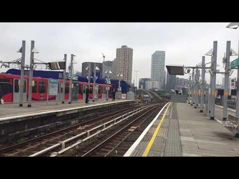 2 London DLR Trains at Poplar
