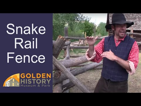 How to build snake-rail fence