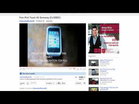 iPod Touch 4 Giveaway Winner!