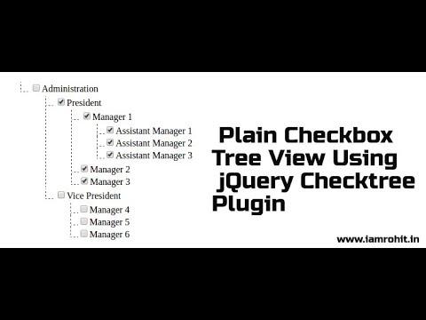 Create Plain Checkbox Tree View Using jQuery Checktree Plugin