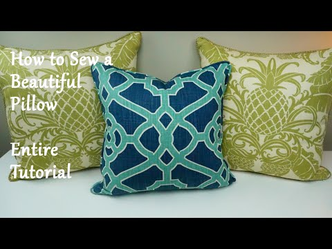 How to Sew a Pillow! Sewing a Beautiful Pillow from Start to Finish