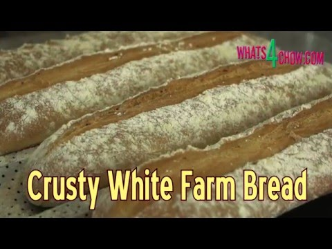 Crusty White Farm Bread - How to Make Rustic, Flavorful Bread at Home!!!