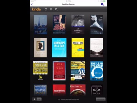 Reading Kindle Books with the BeeLine Reader iPad app