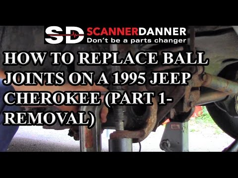 How to replace ball joints on a 1995 Jeep Cherokee (part 1- removal)