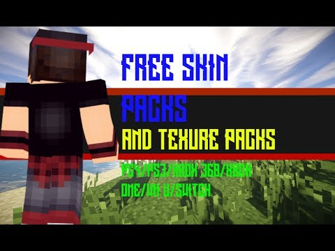 HOW TO GET ALL SKIN PACKS AND TEXTURE PACKS FREE! | MINECRAFT PS3/PS4/XBOX (360/ONE)/WII U/SWITCH