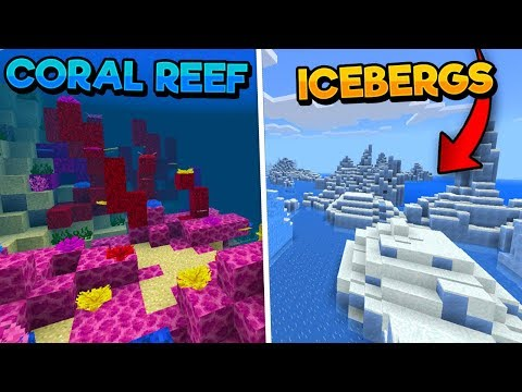 CORAL REEF/UNDERWATER RAVINE & ICEBERG SEEDS! - Minecraft Aquatic Update (PE WIN10 XBOX)