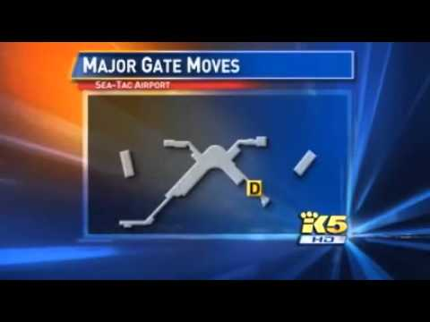 Seattle-Tacoma International Airport: Airline Gate Changes