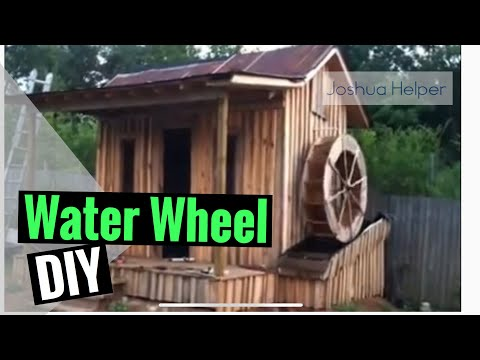 DIY Make your own water Wheel- Part 1 Home Made Generator