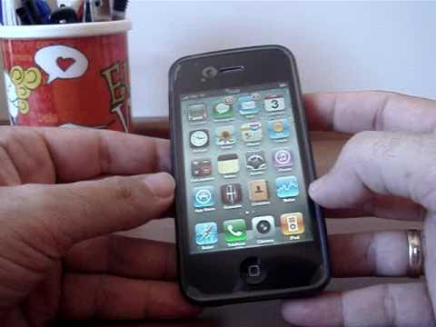 Primeiras Impressoes do iPhone 4 - Capa Silicone - Camera fotografica e video