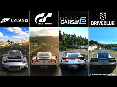 Forza 7 vs. Gran Turismo Sport vs. Project CARS 2 vs. DriveClub   Graphics, Rain Comparison PS4/Xbox