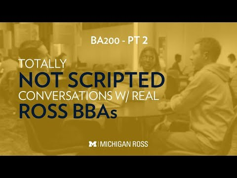 Michigan Ross BBA Students Discuss Positive Business at Ross