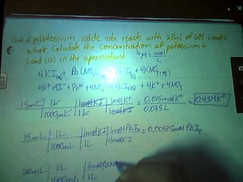 Ion Concentration calculation