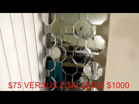 EASY DOLLAR TREE DIY/ZGALLERIE MIRROR DIY/ZGALLERIE AXIS FLOOR MIRROR DIY 2017/ CHYMARIE/HOME DECOR