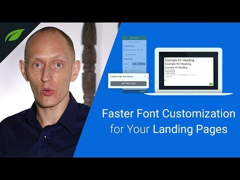 New Feature: Better Font Customization for WordPress Landing Pages