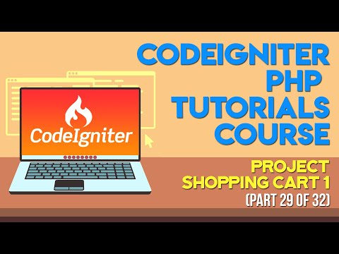 Codeigniter PHP Tutorials in Urdu/Hindi part 29 Project Shopping Cart 1
