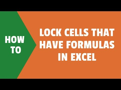 How to Lock Cells with Formulas in Excel