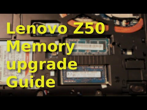 Lenovo Z50 laptop memory upgrade tutorial