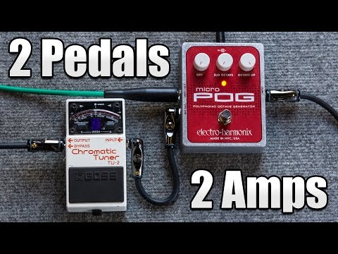 Royal Blood Bass Effects with 2 Pedals and 2 Amps