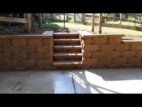 Block Retaining Wall in Time Lapse