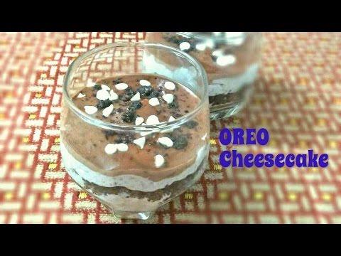No Bake Oreo Cheesecake. Oreo Cheesecake Dessert. Tasty and Easy Oreo Cheesecake Shots.
