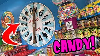 WE WON GIANT CARNIVAL CANDY WHEEL GAME ON THE BOARDWALK!