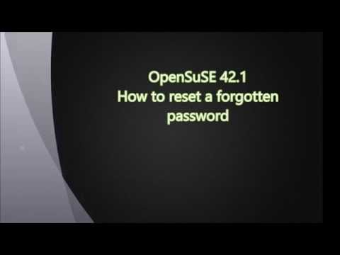 OpenSuSE leap 42.1 resetting a forgotten password.