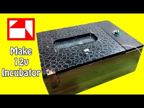 How to make a chicken Incubator at home - chicken incubator - 12v Incubator - incubator for chicken