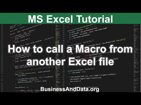 How to call a Macro from another Excel workbook | Excel VBA Tutorial