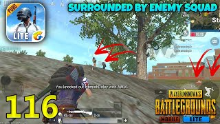 Surrounded By Enemy Squad | PUBG Mobile Lite Solo Squad Gameplay
